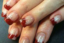 Finger nails polish gel nails