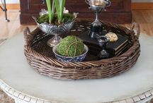 Brocante coffee table styling