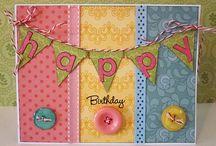 Cards - Birthday / Ideas for handmade Birthday cards.