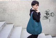 BandaBag - long hobo bag with handle of leather / bag, hobo bag, handcrafted bag