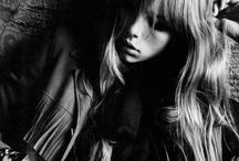edie campbell poses