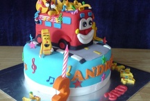 Cameron's Wheels on the Bus Cake