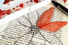 papel de diario y flores
