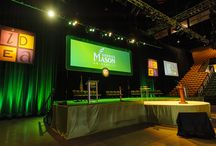 George Mason University President Inauguration @ Patriot Center / EVENTEQ designed and delivered the stage set, audio, lighting, video systems for GMU President's inauguration