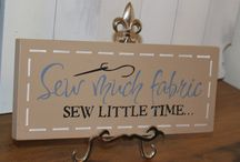 Sewing signs decor