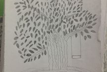 Tree / Painting pencil painting ,girl painting ,drawing,art
