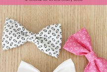 DIY Bow / Bows ,bowties , neckties , ribbons