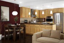 Chadwood Oak / Pictures of Kitchen Kompact's Flat Panel Oak Cabinet Style, Chadwood Oak