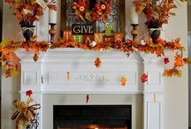 Fall mantel decor / Fall decor