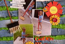 Scrapbooking with Found Objects / creating scrapbook layouts with found and recycled objects
