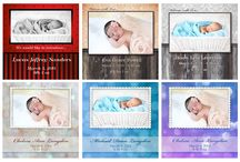 Newborn Announcement Magnets / A special way to announce the birth of a special child.  Have it printed on one of our 4x4 metal magnets! / by JMC Photo & Digital Services
