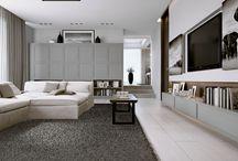 Aeterna contemporary villa / A contemporary villa furnished with the Aeterna wall unit