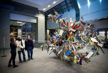 Art Souterrain / Les passages du festival d'art contemporain Art Souterrain dans les aires communes de la Zone 5 - Le 1000 De La Gauchetière.