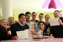 prizeotel sendet Geburtstagsgrüße nach NYC / Wir gratulieren unserem Designer Karim Rashid zum Geburtstag - und zwar mit Schokoladenkuchen und Geburtstagsgrüßen nach New York! / by prizeotel