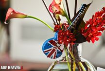 Guitar Centerpieces / Your event will ROCK when you use AXE HEAVEN® Miniature Guitars as part of your decorations and gifts. Great Guitar Centerpiece Decorations & Unique Party Favors For Any Special Event!