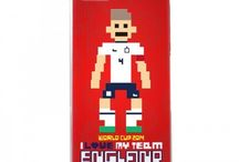 I Love My Team / World Cup 2014 - 3D embossed 8 bit pixel design! Support your favourite team and player in style!