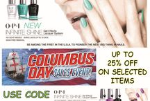 Columbus Day - More choices. More colors. More discounts. OPI Infinite Shine / Columbus Day - More choices. More colors. More discounts. OPI Infinite Shine
