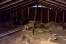 Attic Insulating - Before & After