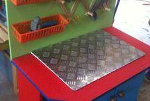 DIY kids work bench ideas