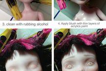 Custom repaint doll