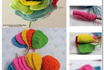 Crochet flowers, accessories, ...