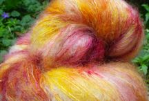 Mes laines peintes.