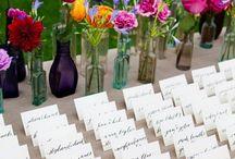 Escort/Place Card Ideas / Creative and stylish ideas for wedding escort cards