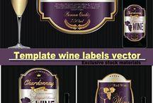 Bottle Label Design gold