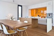 interior, wood and white / interieur hout en wit / Hout gecombineerd met wit en/of zwart