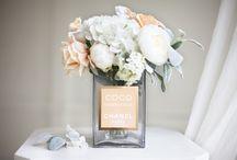 Perfume bottle flower vase