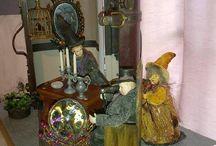 Poppenhuis Heksen Koffer/huis / Over een Heksen gezin dat hun betrekking heeft genomen in en koffer.