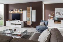 obývačka TURA vyhotovenie Biela Arctic Vysoký Lesk / Dub Riviera Mountain