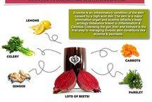 Eczema remedies - juice, foods in diet, etc.