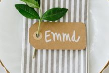 Wedding: Name Cards