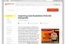 WEB WORK: Style Guide (CSS & HTML) / Front end styleguides and pattern libraries