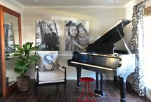 Piano/Office / Piano Room Makeover