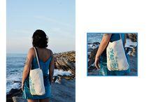 Beach bag / Bag design by ETC. Modelo: Luiza Abbi Saab Place: Peniche, Potugal