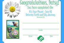 Girl Scout Certificates