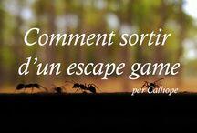 Escape game / Les escape games, leurs mécanismes, leur univers.