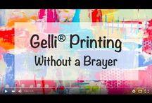 Gelli printing / all things gel