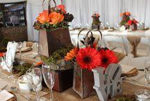 Orange & Brown Wedding Ideas