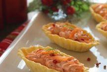 barchette di salmone
