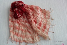 Silky pleasures / handmade and hand painted silk and organza scarves