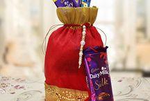Rakhi with Chocolates / Explore here beautiful Rakhi with Chocolates.