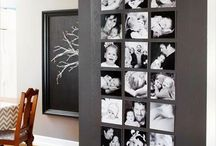 Family photos display