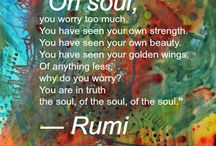 Rumi  ☬ / A Collection of the Insights and Wisdoms from the Sufi Mystic Rumi ॐ