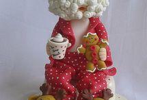 figuras de navidad de porcelana fría