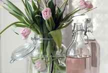 Flower arrangements / Shab Chic