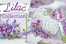 Lush Lilac Collection / The elegant, and well known lilac blossom takes center stage early in the spring season and is one of the first flowers to usher in the season of new beginnings! Venture out for a springtime stroll through a dreamy, garden themed paper collection filled with soft hues of luscious lavenders, deep purples, sky blues and pastel pinks accented with dreamy and romantic illustrations of cozy cottages, lilac filled parasols and lovely lilac filled garden settings!