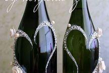 Декорирование винных бутылок